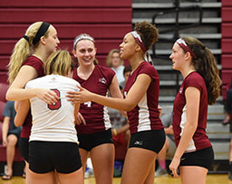 Volleyball Sweeps Hotchkiss