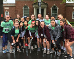 Girls JV Lacrosse & Local Girls In Stride Run 5K Together