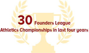 27 Founders League Athletics Champinonship in last five years